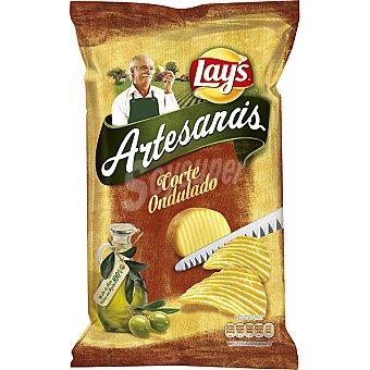 Lay's Artesanas Patatas fritas en aceite de oliva 100% de corte ondulado 170 g