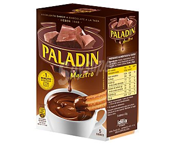 Paladín Chocolate en polvo para preparar a la taza 5 sobres, caja 165 g