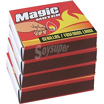 MAGIC Match Cerillas largas Pack 4 caja 100 unidades