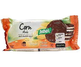 Santiveri Tortitas de maíz bañadas con chocolate negro 130 g