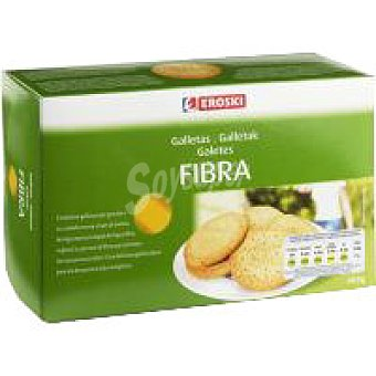 EROSKI Galletas con fibra caja 600 g