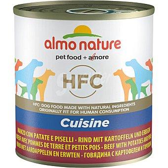 Almo Nature HFC CUISINE  comida húmeda para perros adultos pequeños, medianos y grandes envase 290 g con vacuno, patata y guisante envase 290 g