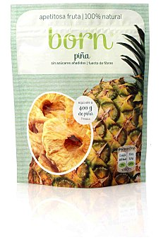 BORN Piña semideshidratada bolsa de 80 gramos