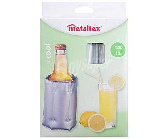 METALTEX Enfriador adaptable para botellas de hasta 2 litros, cierre ajustable con velcro, modelo COOL 1 unidad