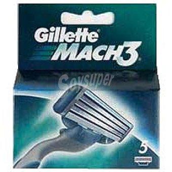 MACH3 Cargador de afeitar Pack 5 unid