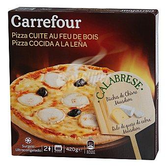 Carrefour Pizza de queso de cabra al horno de leña 440 g