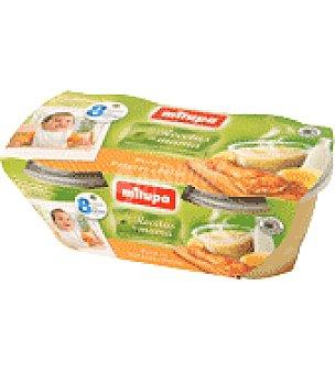 Milupa Tarrito puré de patatas y pollo Pack de 2x200 g