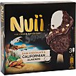 Helado dark chocolate y almendras 3 unidades Nuii