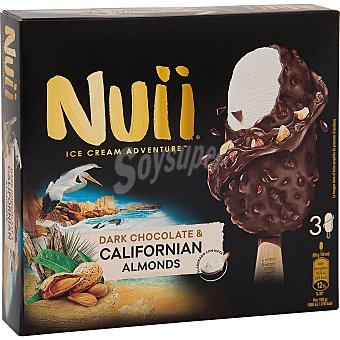 Nuii Bombón Nata y Choco. con Almendras California 198 gr