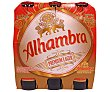 Cerveza rubia nacional Premium Lager Pack 6 botellas 25 cl Alhambra