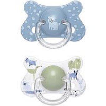 Suavinex Fusion chupete fisiologico 4 a 18 meses Pack 2 uds