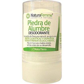 NATURTIERRA Naturfemme Desodorante Piedra de Alumbre protección natural testado dermatológicamente  bote de 120 g