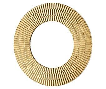 Actuel Espejo redondo decorativo de color dorado, diámetro: 40 centímetros, actuel.