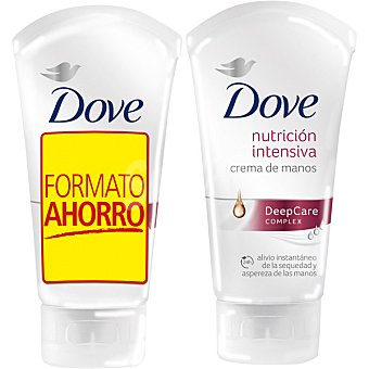 Dove crema de manos nutrición intensiva pack 2 tubo 75 ml