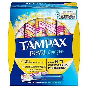 Tampax Compak Pearl regular tampón Caja 18 uds