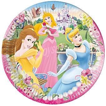 LIRAGRAM Plato decorado Princesas 23 cm 10 unidades