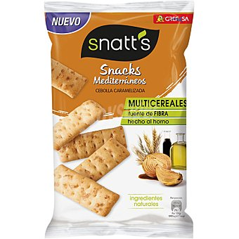 Snatt's Grefusa Snacks mediterráneos sabor cebolla caramelizada Bolsa 110 g