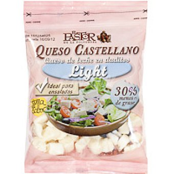 El Pastor Dados de queso mezcla tierno light Bolsa 150 g