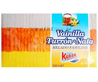 Kalise Helado de vainilla, turrón y nata tarrina 500 gr