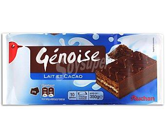 Auchan Bizcocho con chocolate relleno de leche 350 gramos