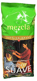 Hacendado Cafe grano mezcla 80/20 (natural/torrefacto) Paquete de 1 kg