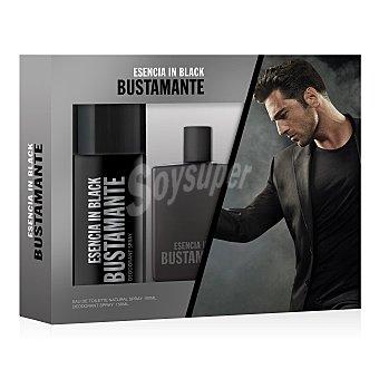 Bustamante Pack esencia in black colonia 100 ml + desodorante 150 ml 100 ml
