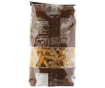 Auchan Espirales, pasta de sémola de trigo duro de calidad superior Paquete de 500 gramos