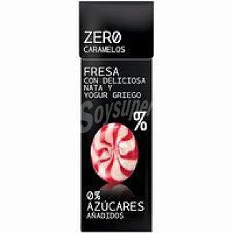 ZERO Caramelos de fresa con nata sin azúcar Caja 32 g