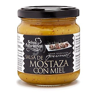 Salsas Asturianas Salsa de mostaza con miel Frasco 210 g