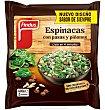Espinacas verdeliss pasas/piñones 400 G