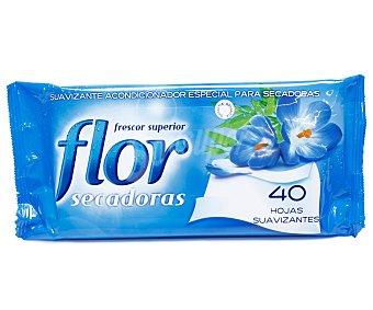 Flor Suavizante para secadoras en hojas Paquete 40 unid