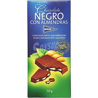 HIPERCOR chocolate negro con almendras tableta 150 g