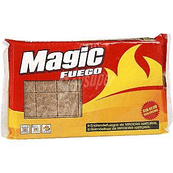 Magic Fosforos enciende fuegos de madera natural en pastillas sin olor paquete 28 unidades Paquete 28 unidades