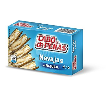 CABO DE Peñas navajas al natural 4/6 piezas Lata 60 gr