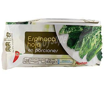 Auchan Hojas de espinacas Pack 2 unidades de 200 gramos