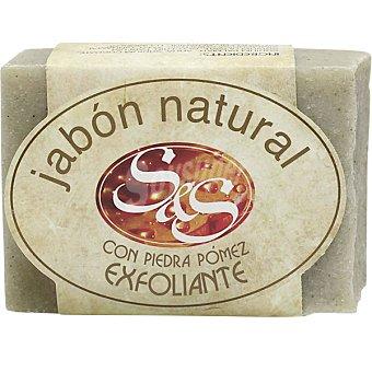 S&S Pastilla de jabón natural con piedra pómez exfoliante Pastilla 100 g