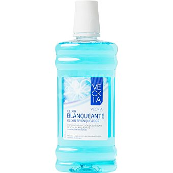Veckia Elixir blanqueante frasco 500 ml prolonga la acción de la crema dental blanqueante frasco 500 ml