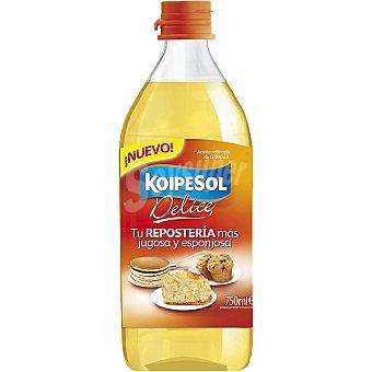 KOIPESOL Delice Aceite refinado de semillas de girasol especial respostería Botella 750 ml