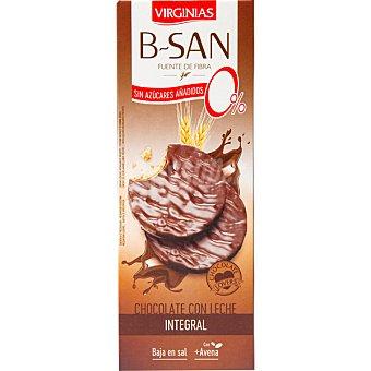 Virginias B-san galletas integrales con chocolate con leche sin azúcar Paquete 120 g