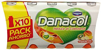 Danone Yogur liquido danacol tropical (reduce el colesterol) Botellin pack 10 x 100 g - 1 kg