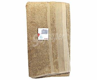 AUCHAN Toalla 100% algodón lisa de baño, color beige, 100x150 centímetros, densidad de 500 gramos/m² 1 Unidad