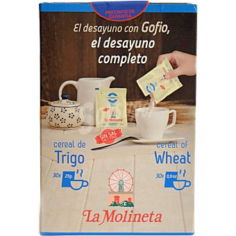 La molineta cereal de trigo paquete 750 g 30 monodosis de 25 g