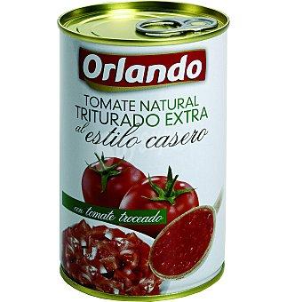 ORLANDO Tomate natural triturado extra al estilo casero lata 400 g