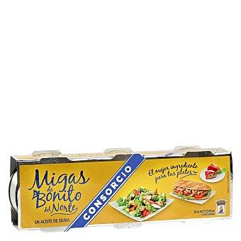 Consorcio Migas de bonito en aceite de oliva Pack de 3x42 g