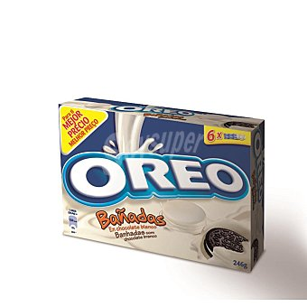 Oreo Galletas oreo bañadas chocolate blanco 246 g