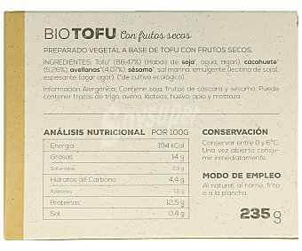 Ahimsa Tofu con frutos secos biológico 230 gramos