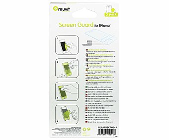MUVIT Set de 2 protectores iphone 5 mate