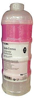 Hippos Contenedor alimentos bebe color rosa 1u