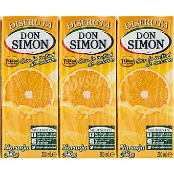 Don Simón Néctar de naranja sin azúcar Pack 6x20 cl