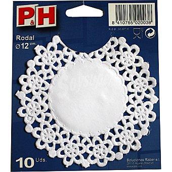 P & H Rodal blanco 12 cm Estuche 10 unidades